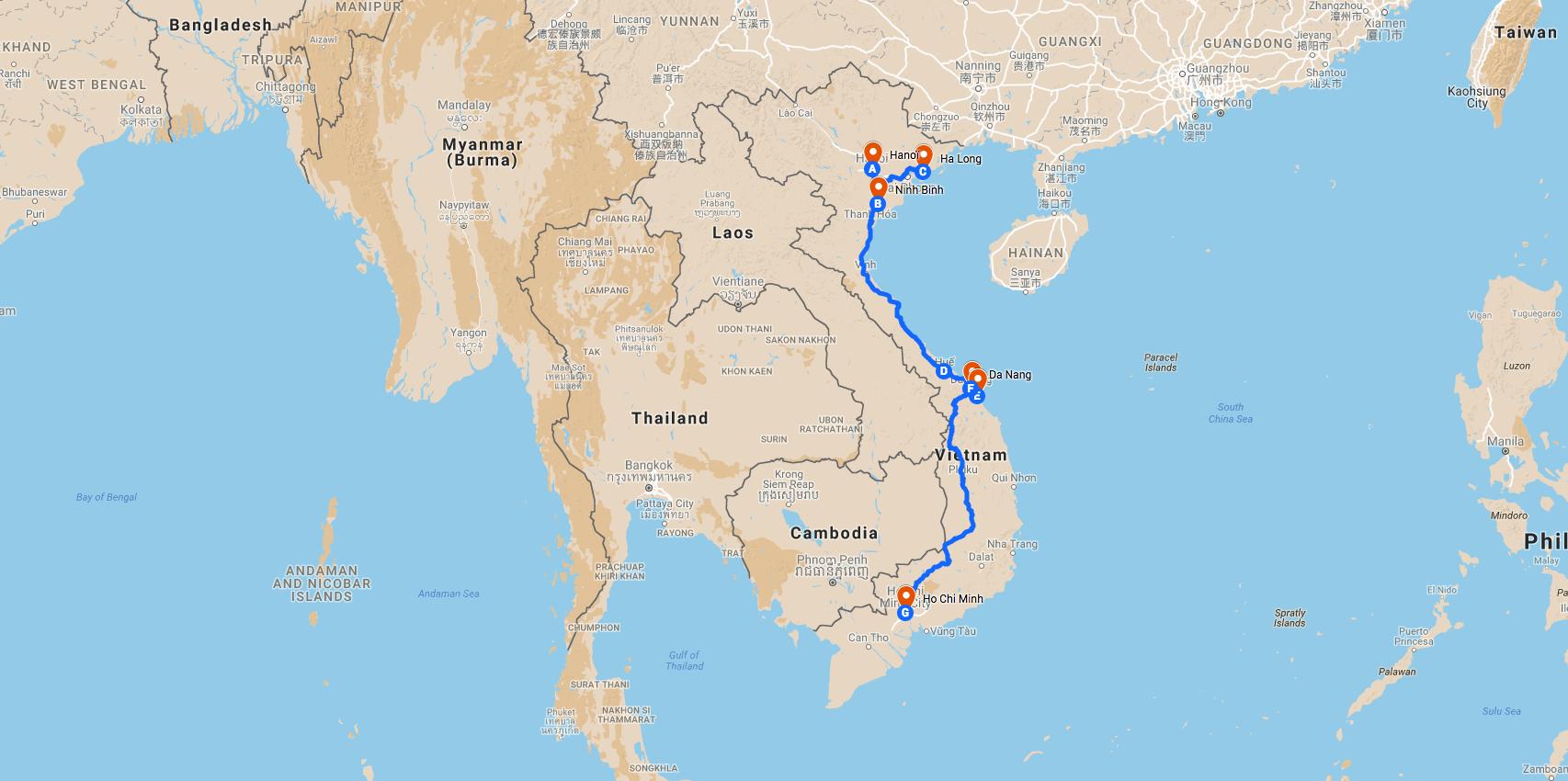 Backpackers au Vietnam