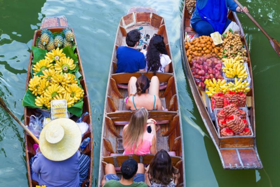 sejour thailande floating market
