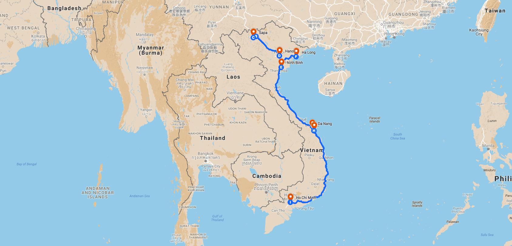 Vacances au Vietnam