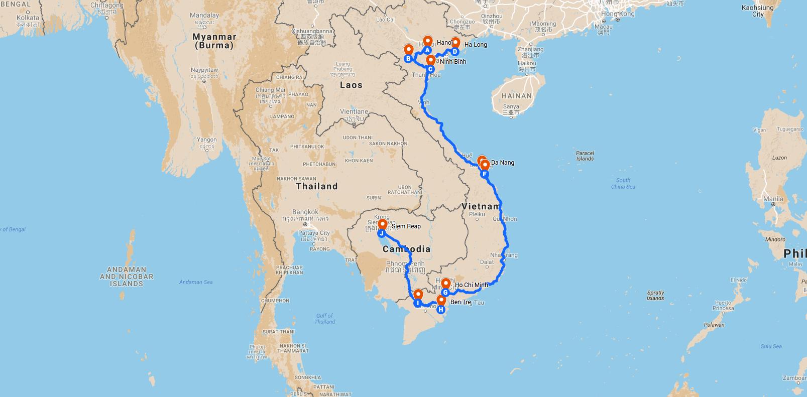 Vietnam et Cambodge pas cher