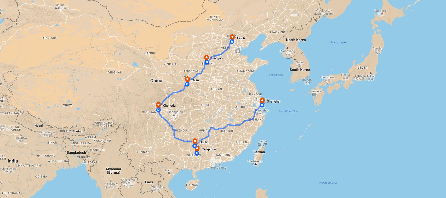Circuit en Chine avec guide francophone